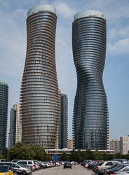 Twin towers of Absolute World condominium, Mississauga
